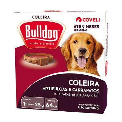 Coleira Anti Pulgas Bulldog 25 gr 7 meses