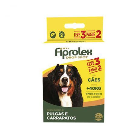 Combo Antipulgas Fiprolex Cães acima de 40kg Ceva 3 Pipetas