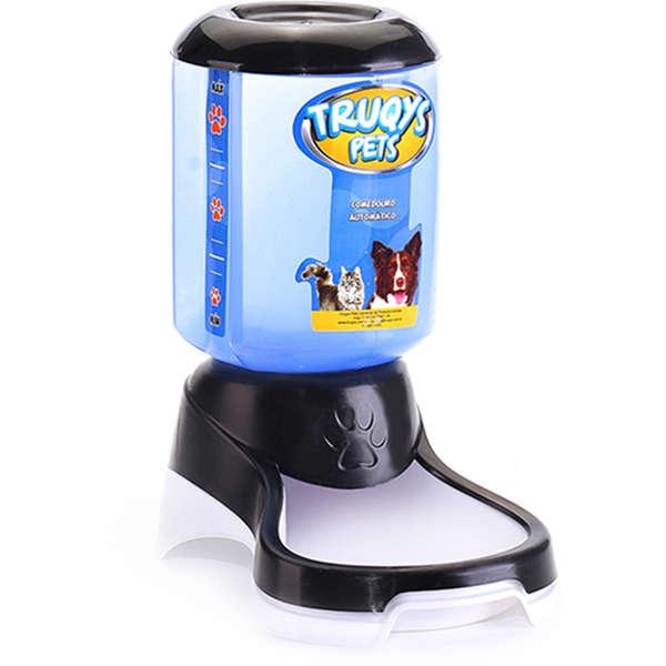 Comedouro Automático Truqys Pets Preto com Galão 1 Kg