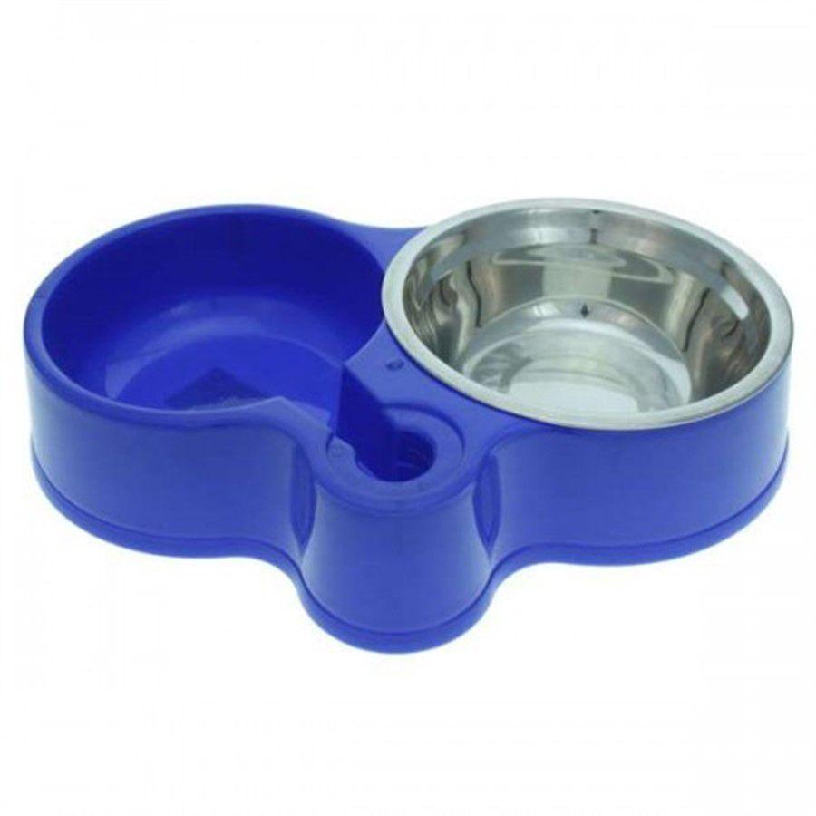 Comedouro Chalesco Pratik Pet - Azul