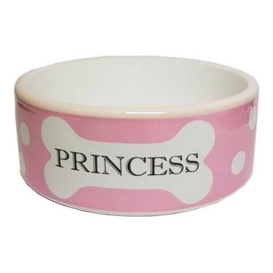 Comedouro em Porcelana Cão Princesa Rosa