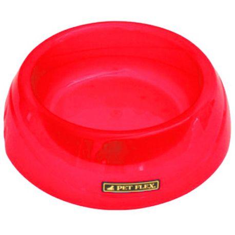 Comedouro Pet Flex Translucido 660mL - Vermelho