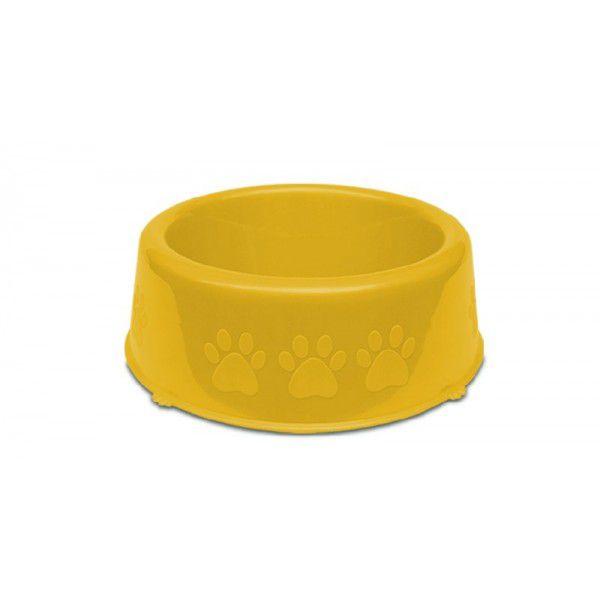 Comedouro Pet Injet Perolizado Luxo Pequenas Racas 600ml - Amarelo