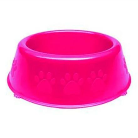 Comedouro Plastico Patinhas Grande 2750ml - Rosa