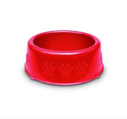 Comedouro Plastico Patinhas Grande 2750ml Vermelho