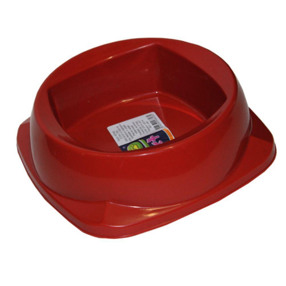 Comedouro Zooplast Grande 1600ML - Vermelho