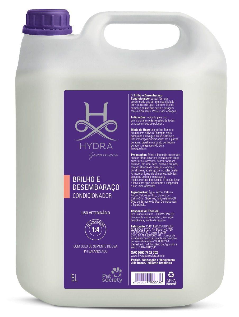 Condicionador Hydra Pet Society Brilho E Desembaraço 5L