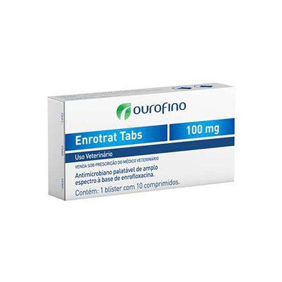 Antimicrobiano Ouro Fino Enrotrat Tabs de 10 Comprimidos - 100 mg