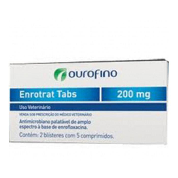 Antimicrobiano Ouro Fino Enrotrat Tabs de 10 Comprimidos - 200 mg