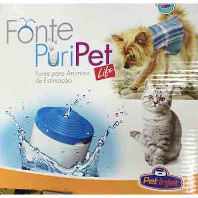 Fonte Bebedouro Pet Injet Puripet 2 Litros - Azul 110V