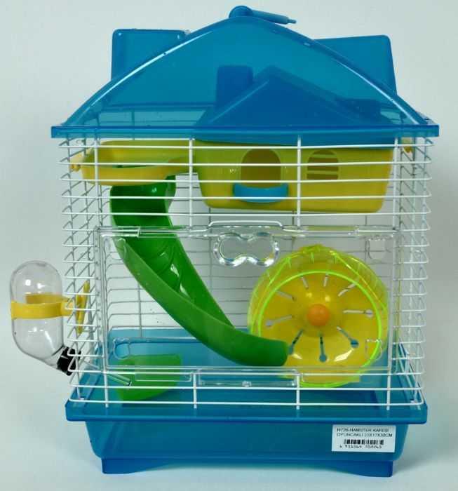 Gaiola Hamster Play Luxo Mix - Azul - 23cm x 17cm x 23cm