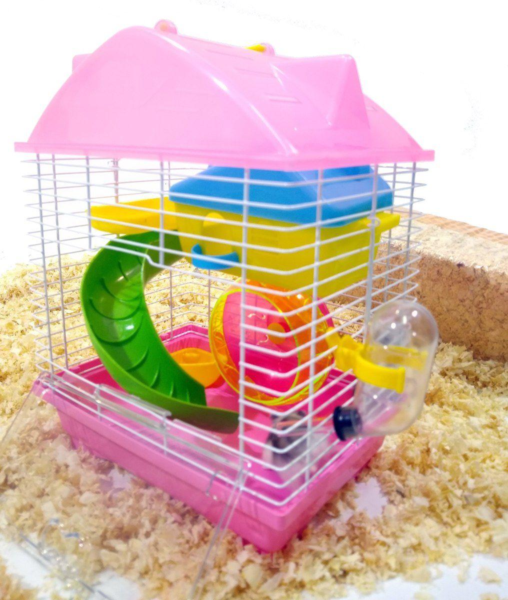 Gaiola Hamster Play Luxo Mix - Rosa - 23cm x 17cm x 30cm