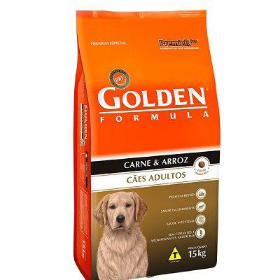 Ração Golden Fórmula Cães Adultos Carne e Arroz - 15 KG