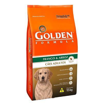 Ração Golden Fórmula Cães Adultos Frango e Arroz - 15 KG