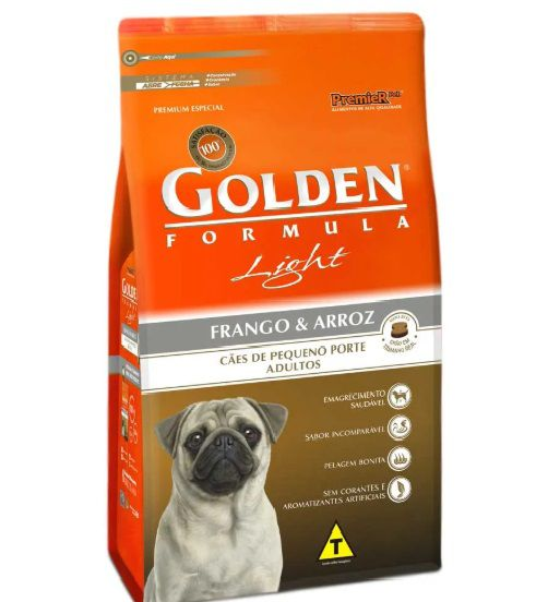 GOLDEN FÓRMULA ADULTO LIGHT FRANGO E ARROZ 15 KG