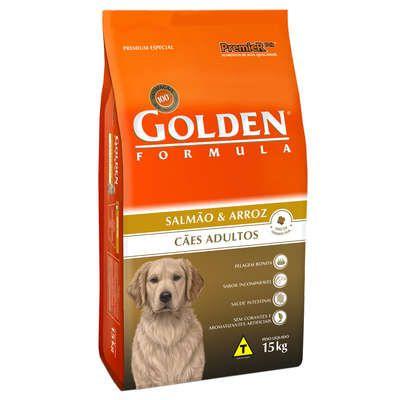 Ração Golden Fórmula Cães Adultos Salmão e Arroz - 15 KG