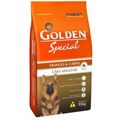 Ração Golden Special Cães Adultos Frango e Arroz - 15 KG