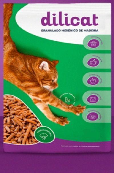 Granulado Higiênico de Madeira Natural Cat 10kg