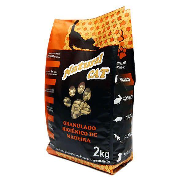 Granulado Higiênico de Madeira Natural Cat  2kg