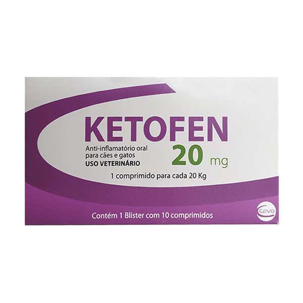 Ketofen Merial Anti-inflamatório 20mg 10 Comprimidos