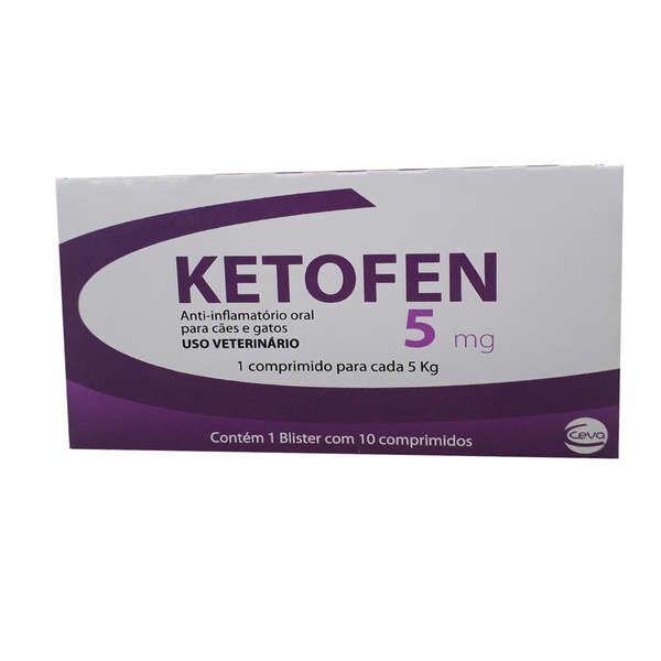 Ketofen Merial Anti-inflamatório 5mg 10 Comprimidos
