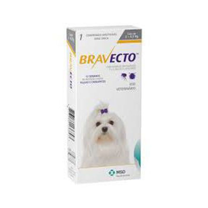 Kit 2 Anti Pulgas e Carrapatos Bravecto para Cães de 2 a 4,5kg - 112,5mg