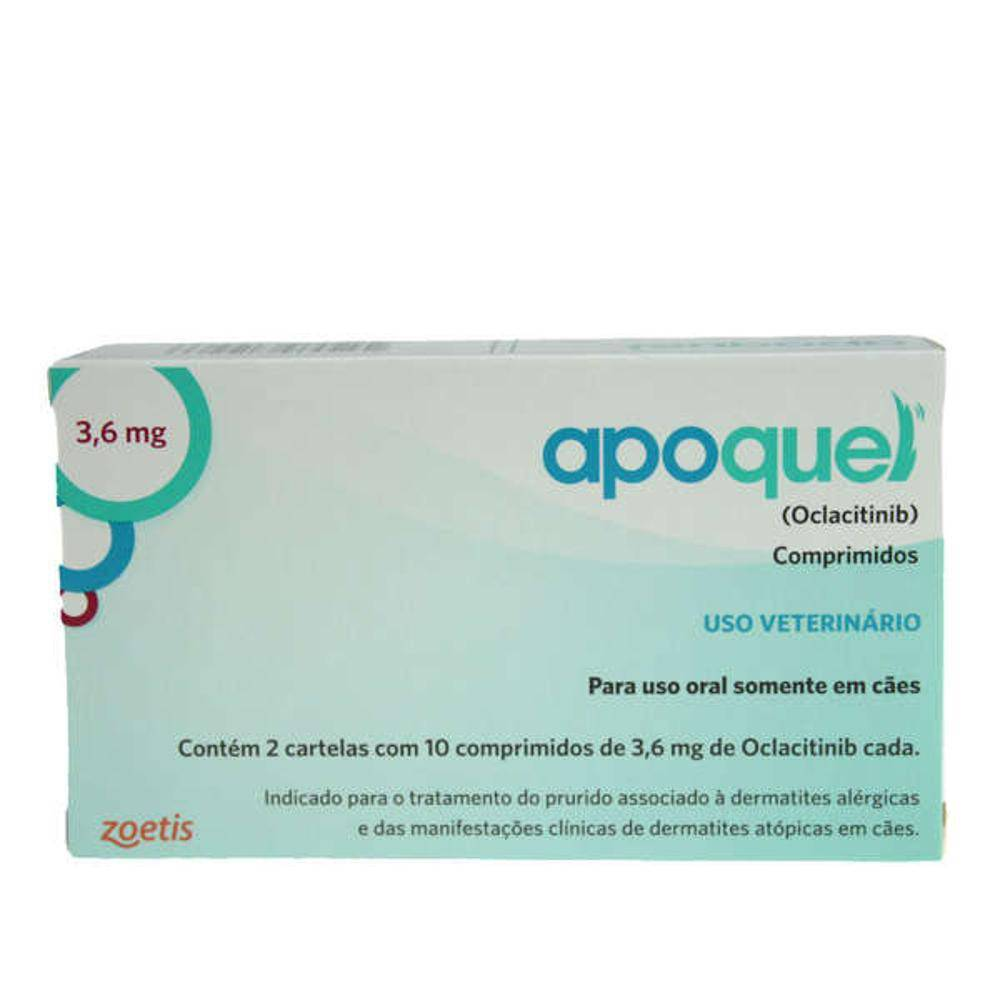 Kit 2 Apoquel 3,6mg 20 Comprimidos Zoetis