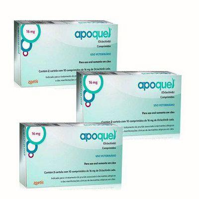 Kit 3 Apoquel 16mg 20 Comprimidos Zoetis