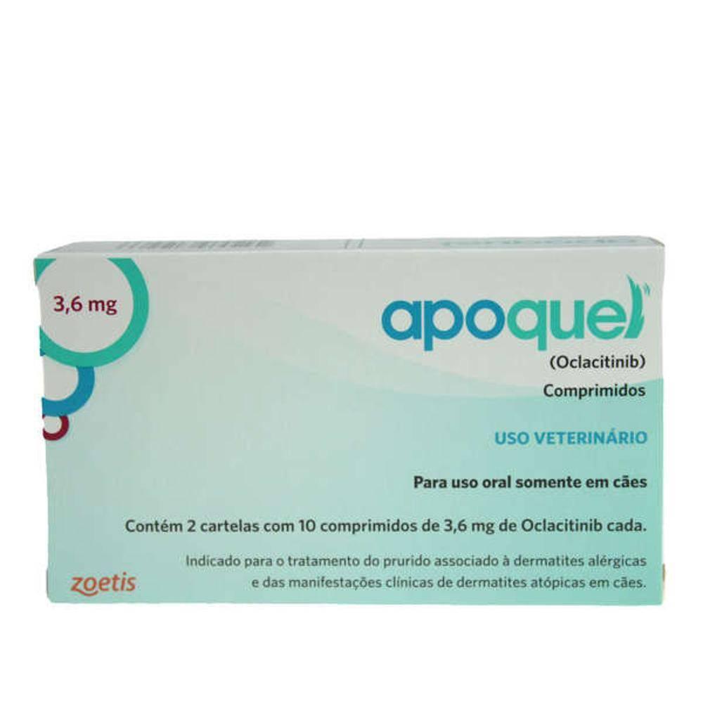 Kit 3 Apoquel 3,6mg 20 Comprimidos Zoetis