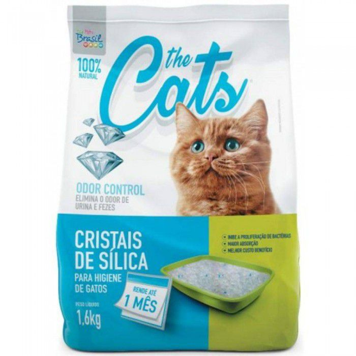 Kit 8  Silica The Cats Gatos 1,6 KG Regular