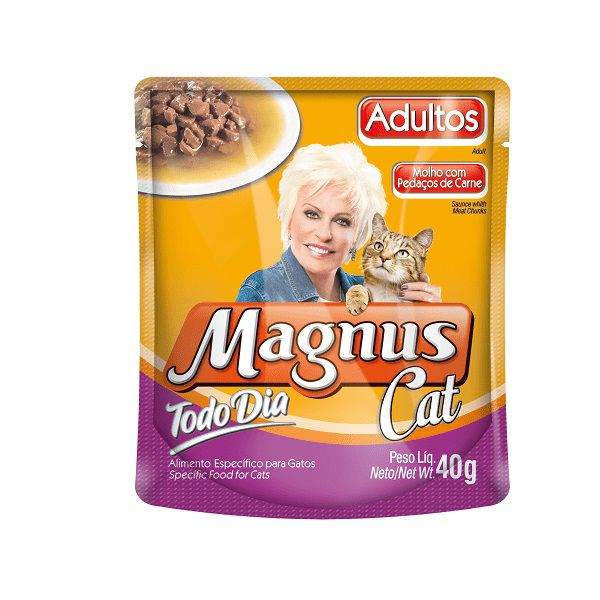 KIT COM 10 SACHE MAGNUS CAT TODO DIA CARNE 40G