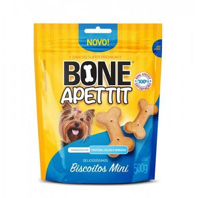 KIT COM 2  BISCOITO BONE APETTIT MINI 500G