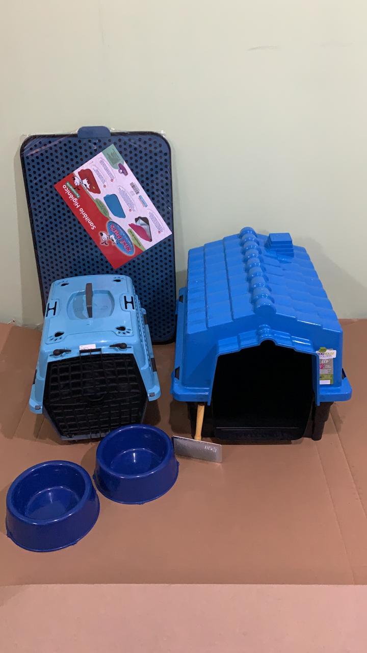 Kit Para Cães Pequenos Azul Completo Promoção