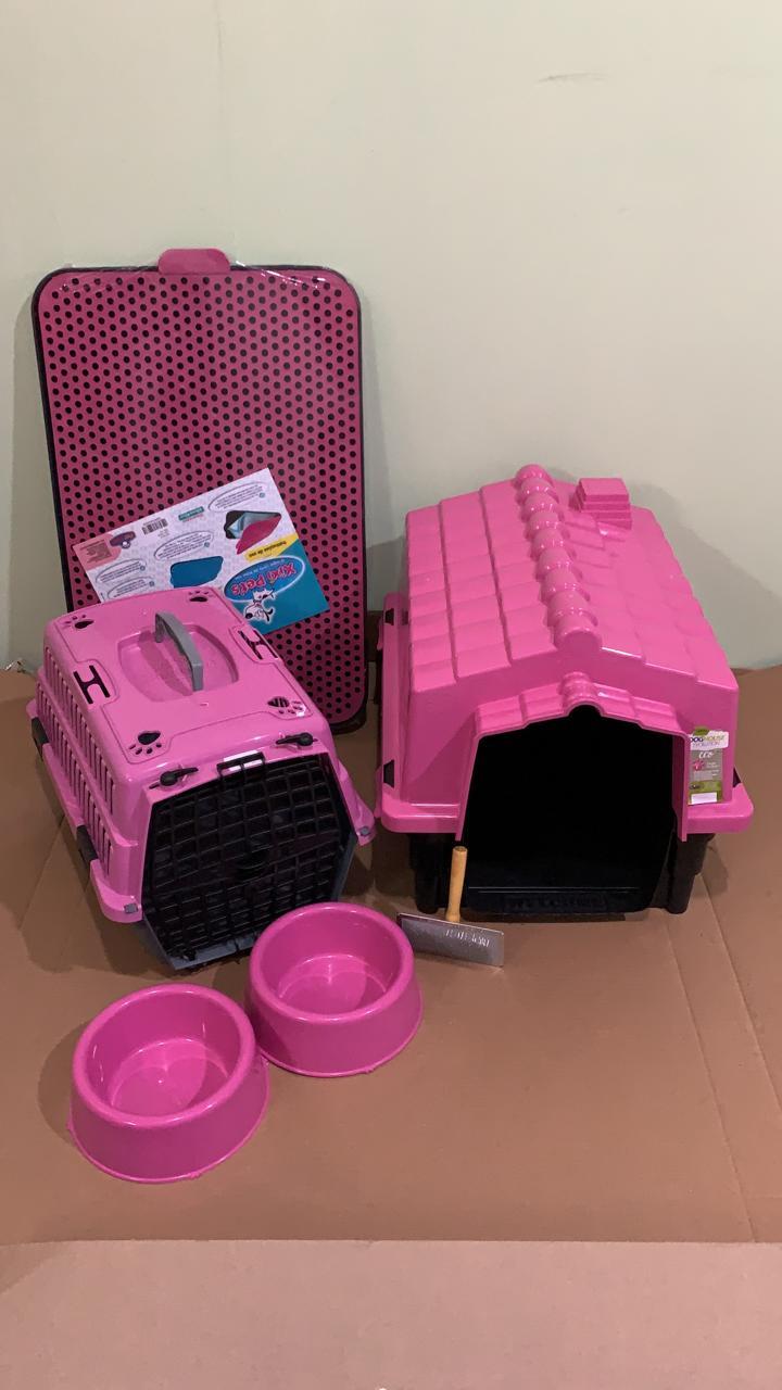 Kit Para Cães Pequenos Rosa Completo Promoção