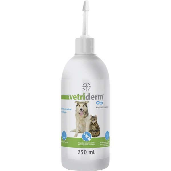 Limpador Auricular Bayer Vetriderm Oto para Cães e Gatos 250ml