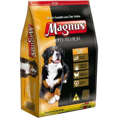 MAGNUS SUPER PREMIUM ADULTOS FRANGO E ARROZ 15KG Val.12/19