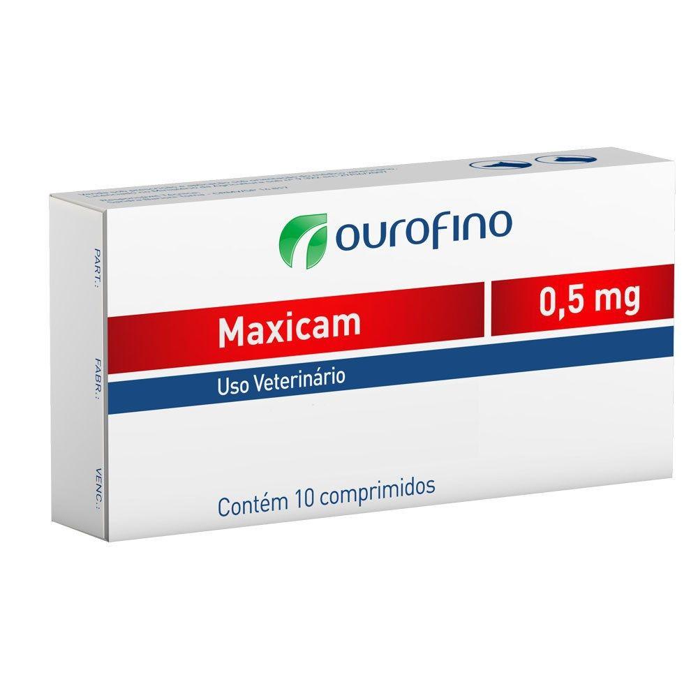 Anti-inflamatório Ouro Fino Maxicam 0,5mg - 10 Comprimidos