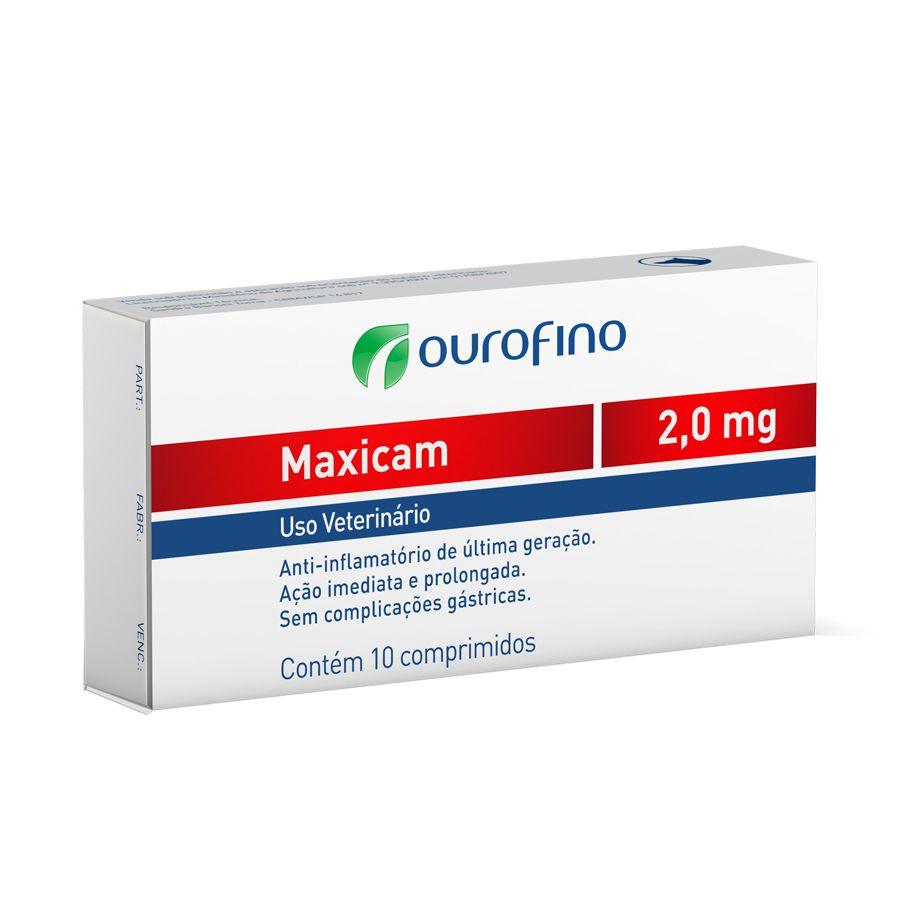 Anti-inflamatório Ouro Fino Maxicam Plus 2,0mg - 10 Comprimidos