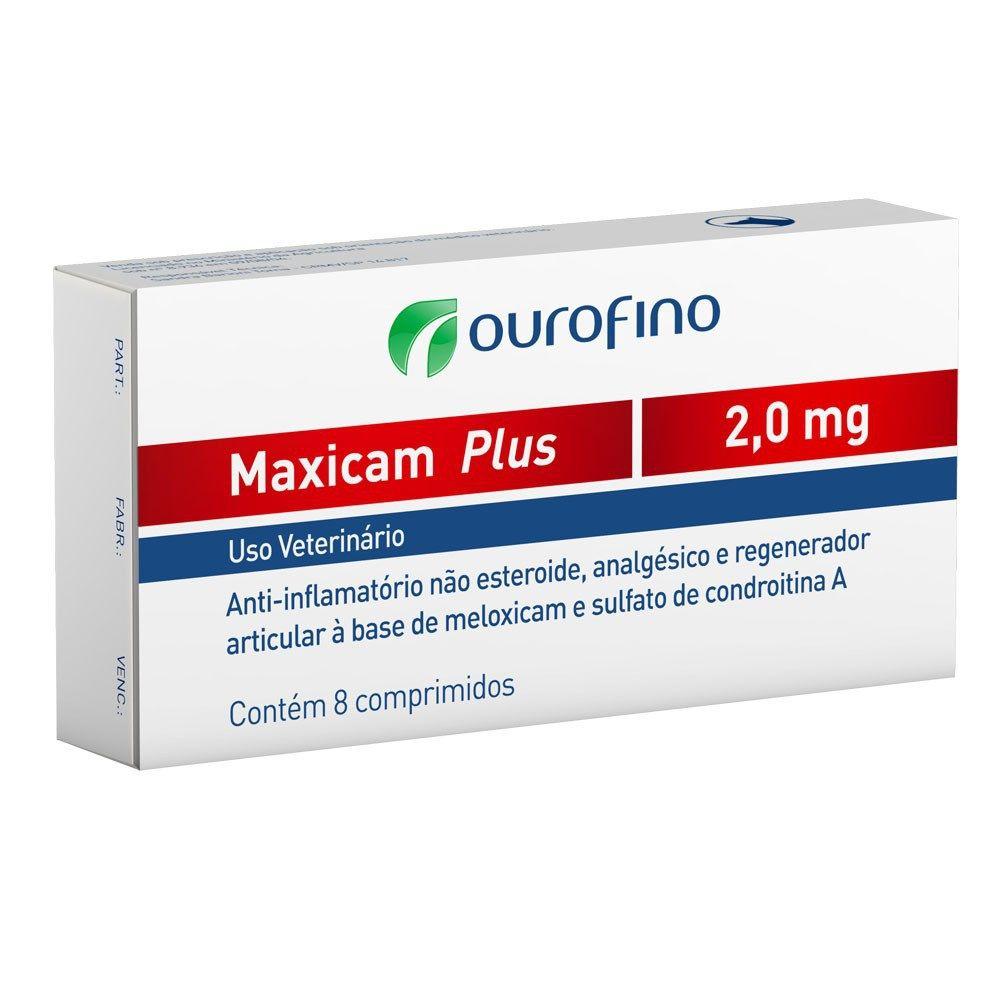 Anti-inflamatório Ouro Fino Maxicam Plus 2,0Mg - 8 Comprimidos
