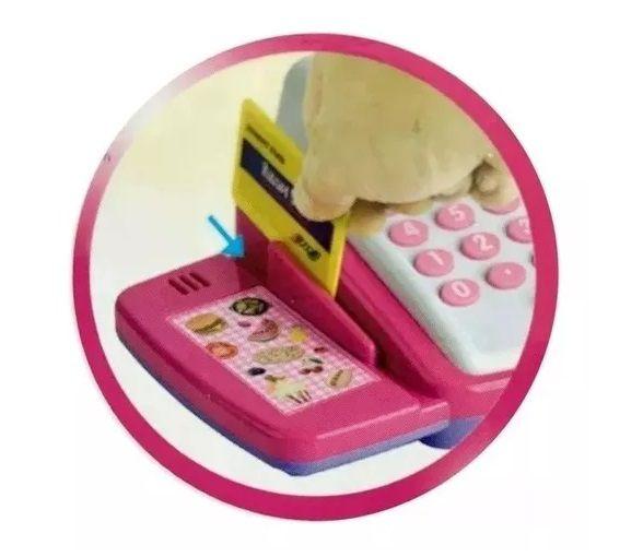 Mini Caixa Registradora Infantil Cartao Moedas Maquina