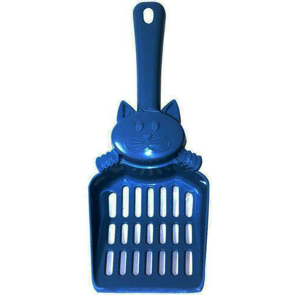 Pá Higiênica Mr Pet Azul com Figura para Gatos 25cm