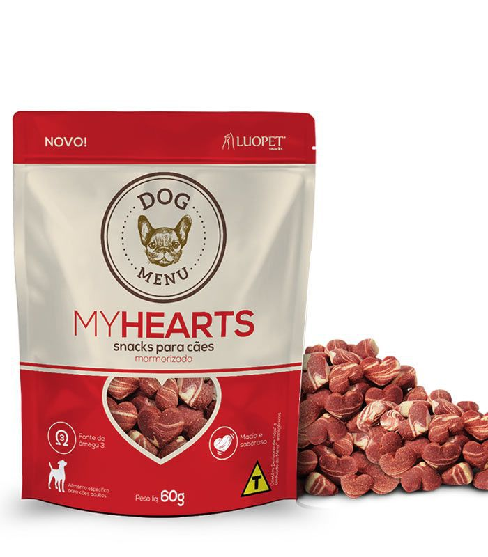 Petisco Luopet Dog Menu My Hearts 60g