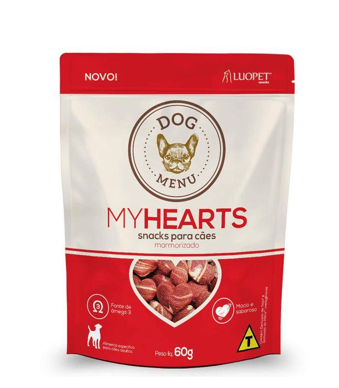 Petisco Luopet Dog Menu My Hearts 60g
