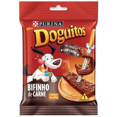 Petisco Nestlé Purina Doguitos Bifinho Carne para Cães 65GR