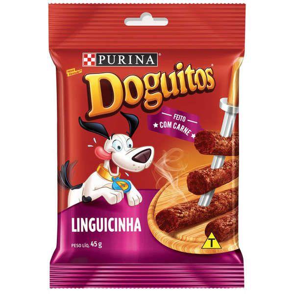 Petisco Nestlé Purina Doguitos Linguicinha para Cães 45G