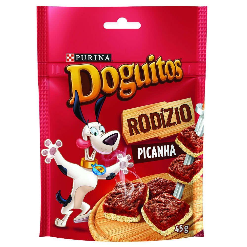 Petisco Nestlé Purina Doguitos Picanha para Cães 45GR