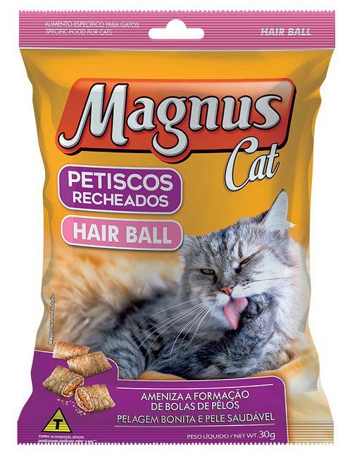 Petisco Recheado Magnus Cat Hair Ball 30g