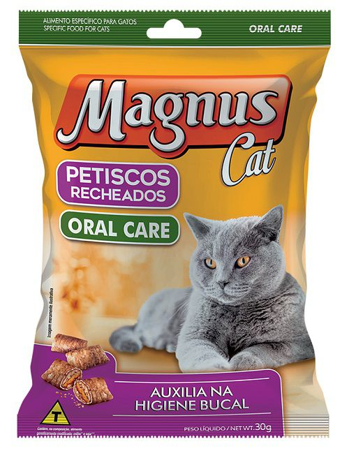 Petisco Recheado Magnus Cat Oral Care 30g