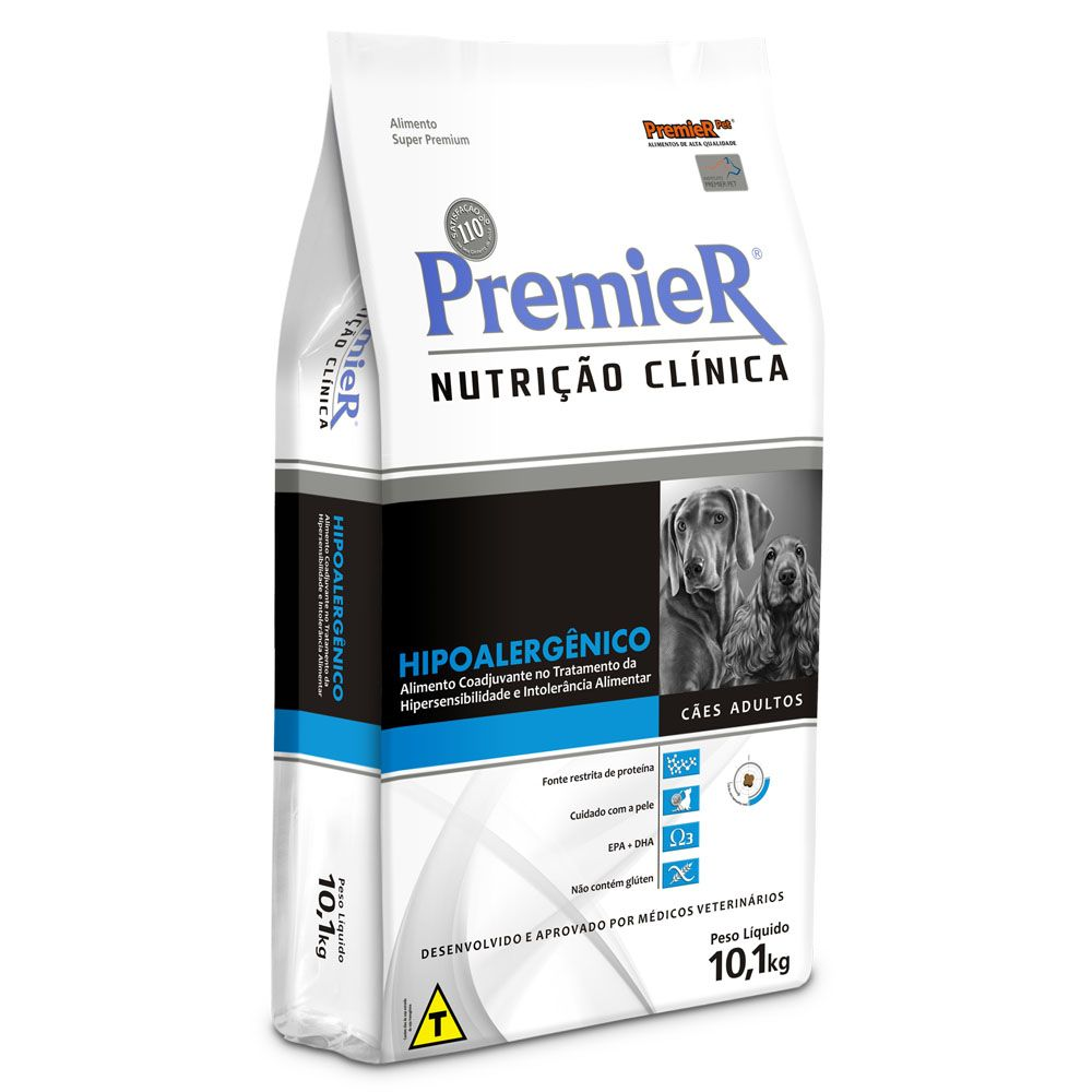 Ração Premier Nutrição Clínica Cães Hipoalergênico - 10,1 KG