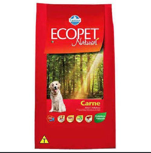 Ração Farmina Ecopet Natural Carne Cães Adultos 15kg